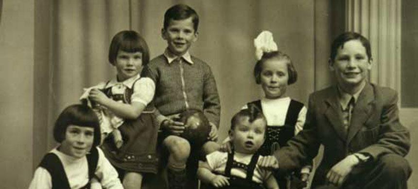 Gezinsfoto uit Jaspers jeugd