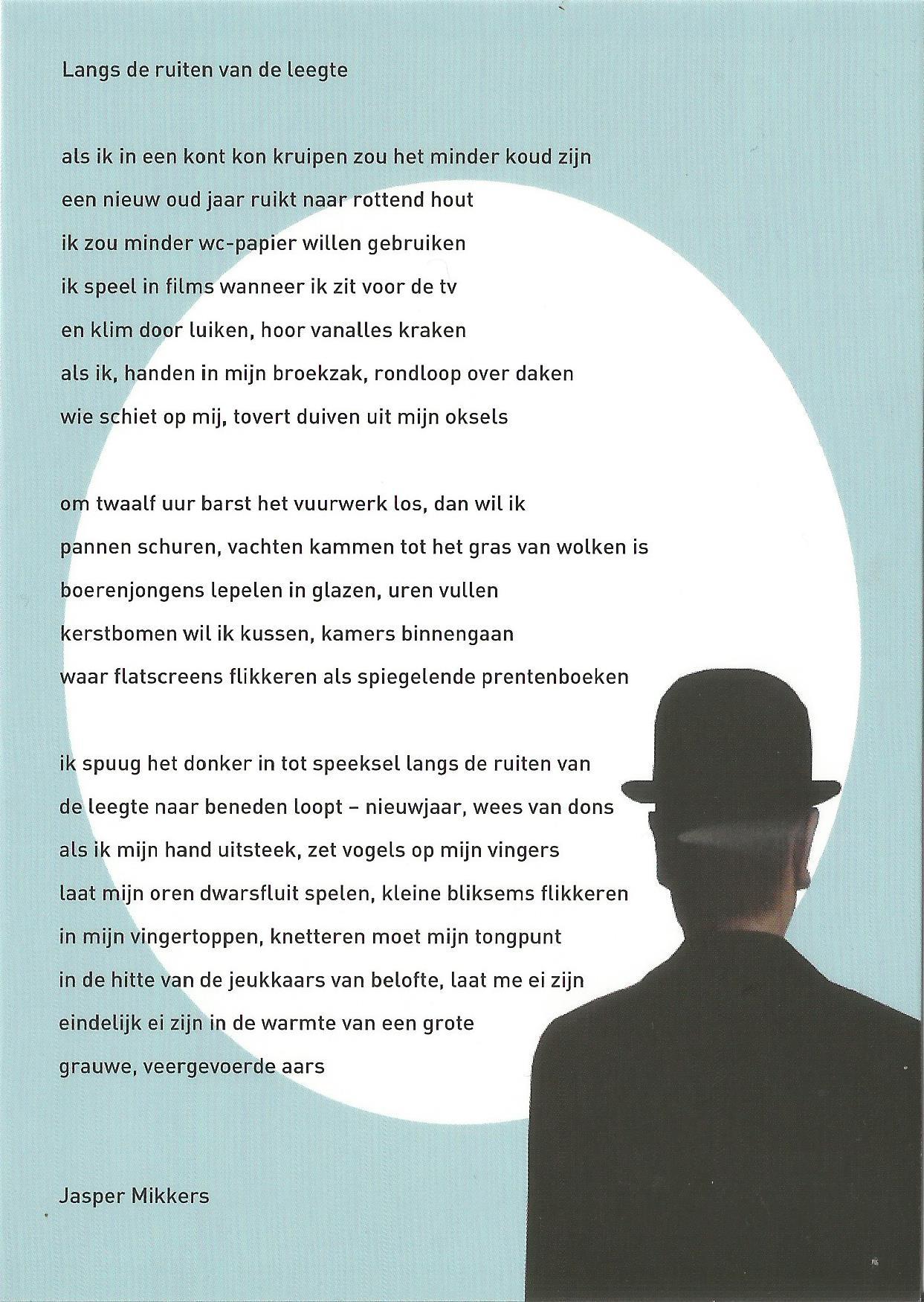 Dichters Wensen Een Poëtisch 2015 Jasper Mikkers
